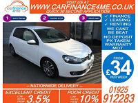 2009 VW GOLF 1.6 TDI SE GOOD / BAD CREDIT CAR FINANCE FROM 34 P/WK