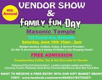 4th Annual Vendor Show & Family Fun Day!