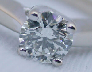 AGS Triple Ideal Cut 0.51CTS 18k White Gold Engagement Ring