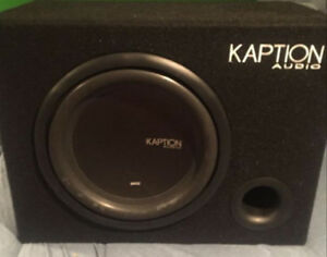 12 Inch Kaption Sub With Box And Built In Amp