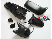 New YAMAHA PW 50 Plastics Plastic Kit Tank Seat Front & Rear Fender Black