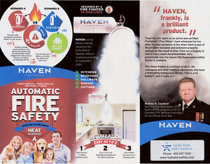 """Dragons Den """" New"""" Haven Fire Suppression Device."""