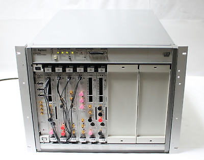 Hpagilent E8403a Vxi Mainframe W E8491b Firewire 3x E4805b Clock 3x E4861a Data
