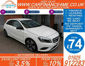 2013 MERCEDES A180 1.8 CDI BLUE SPORT GOOD / BAD CREDIT CAR FINANCE FROM 74 P/WK