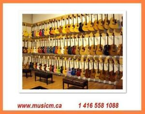 Back to school! Guitar Sale Acoustic, Classical, Electric & Bass Guitars Brand New with Warranty www.musicm.ca