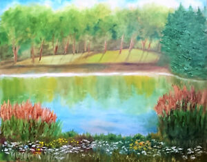 Beautiful Oil on Canvas Original Painting - Perfect Condition