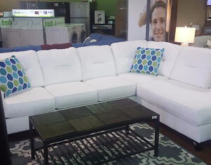 KIRWIN SECTIONAL. WHITE IN COLOR. BRAND NEW