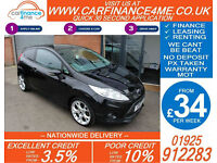 2010 FORD FIESTA 1.6 ZETEC S GOOD / BAD CREDIT CAR FINANCE FROM 34 P/WK
