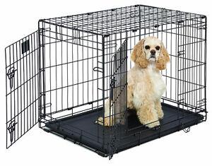 NEW Double-Door Folding Metal Dog Crate Med. BNIB BEST MODEL