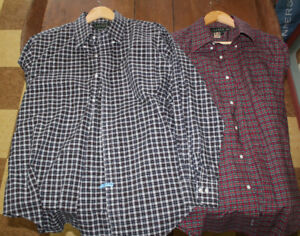 2 x Ralph Lauren dress shirts like new dry cleaned XL