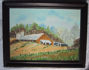 Barn in the Country - Original oil painting for sale by artist