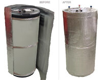 HOT WATER HEATER JACKET:ENERGY SAVING FITS UP TO 60 GALLON TANKS