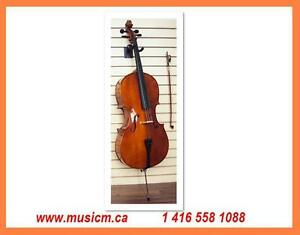 Cellos All Sizes Hard Case, Bow, www.musicm.ca