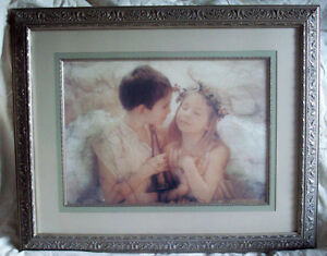Large Professionally Double Framed Dbl Matte Angels framed print