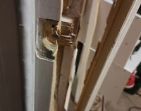 If you need a burglary repair, Forced entry door frame fix. Kick