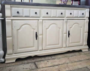 White Rustic Buffet