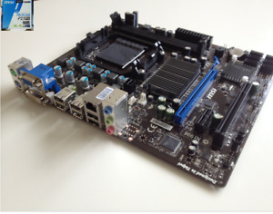 Used, yet completely functional, MSI 760GM-P23FX, Motherboard.