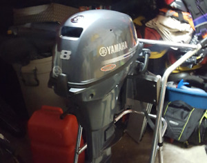 Yamaha 8 hp  Outboard boat motor with accessories