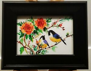 Watercolor Painting With Brand New Frame