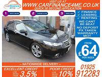 2012 HONDA ACCORD I-DTEC TYPE S GOOD BAD CREDIT CAR FINANCE FROM 64 P/WK