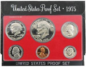 1975 S US Mint Proof Coin Set