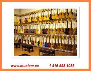 Guitar Sale Acoustic, Electric and Classical Brand New w/ Warranty www.musicm.ca