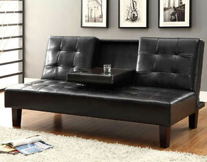 BEST DEAL-QUALITY SOFA BED CLICK CLACK W/ CUP TRAY! WE DELIVER!!