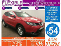2014 NISSAN QASHQAI 1.2 DIG-T ACENTA PREMIUM GOOD / BAD CREDIT CAR FINANCE AVAIL