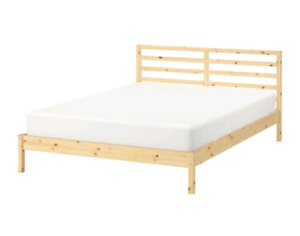 Wooden Bed Frame - Double/Full- one year old