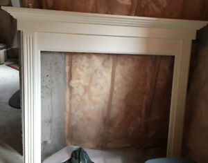 Fireplace Mantel with Marble Inserts
