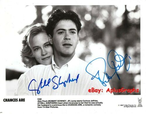 CHANCES ARE.. Cybill Shepherd with Robert Downey Jr. - SIGNED