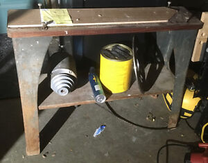 Cast iron, delta(?) woodworking tool base legs