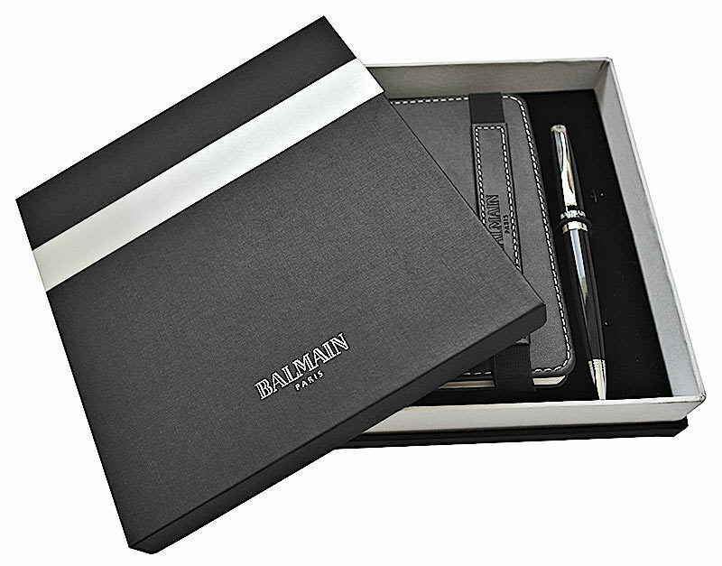 many styles new product best value Details about Balmain Paris Official Product Stationary Gift Set Notebook &  Pen In Gift Box