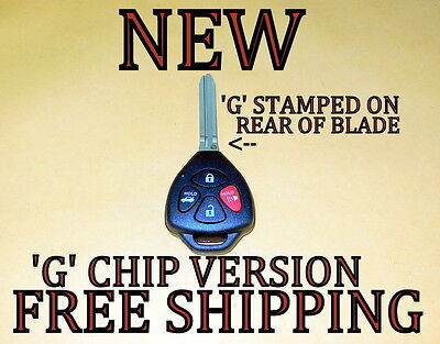 New Uncut 2011 11 Toyota Camry Keyless Remote Fob Transmitter Hyq12bby G Chip