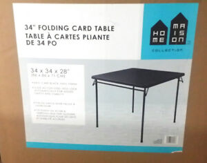 """34"""" FOLDING CARD/PARTY TABLE GREAT CONDITION"""