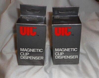 2x Paper Clip Dispenser Magnetic Holder 42 X 42 X 68mm Dispenser Holder Caddy