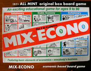 MIX-ECONO® board game, economics based learning game, 9-90, mint