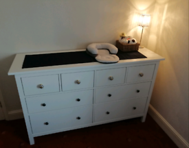 Hermes 8 draw chest of drawers white