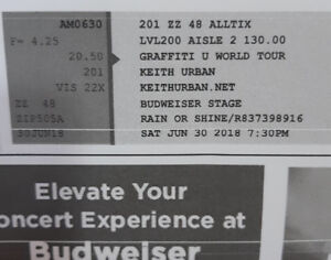 2 Keith urban concert tickets June 30!!