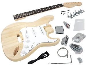 Solo ST Style DIY Guitar Kit, Basswood Body, Rosewood FB, STK-1