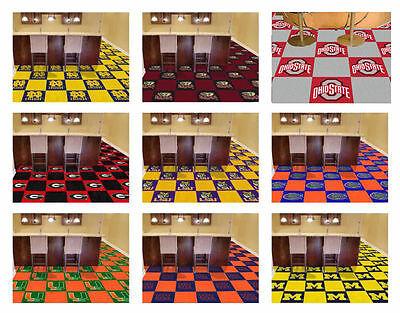 CHOOSE TEAM - FANMATS NCAA College Team Carpet Tiles 18x18 - 20 tiles set Fanmats Team Tiles