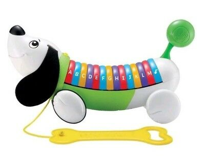 LeapFrog ALPHAPUP Alphabet Dog Piano Learning Music Pull Along Green Leapfrog Learn Along Piano