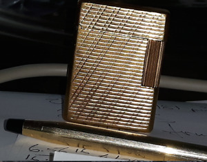 S T Dupont heavy gold plate lighter...9/10 condition