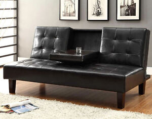 █ ♣ █  QUALITY SOFA BED CLICK CLACK W/ CUP TRAY!  █ ♣ █