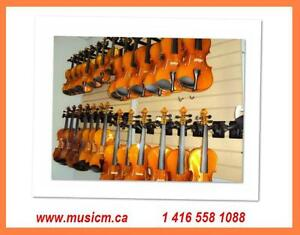 Violins Cellos Violas All Sizes Hard Case, Bow, www.musicm.ca Brand New or Refurbished Quality Instruments with Warranty