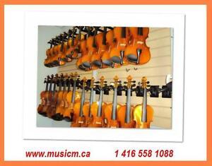 Violins Cellos Violas All Sizes Hard Case, Bow, www.musicm.ca