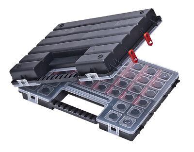 XL Doppel Sortimentskasten Kleinteilemagazin Werkzeugkasten 12-54 Fächer