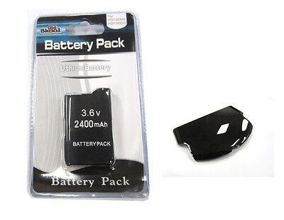 Psp Slim Replacement Battery - PSP 2000 (SLIM) Replacement Battery Pack 3.6v 2400 mAh + Black Battery Cover Set