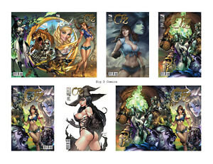 Grimm Fairy Tales Oz #1 Complete 6 Comic Set with Retailer Incentive! Zenescope