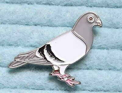 Racing Pigeon metal enamel pin badge Wood Pigeon Fancier Dove Homing Pigeon